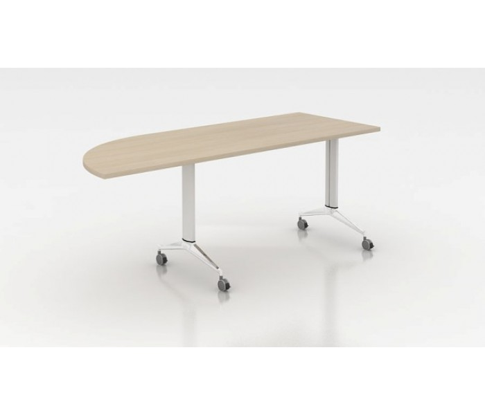 Table abattante demi-oblong FORM Prof 70 cm